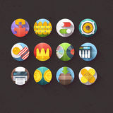 Flat Icons for mobile and web applications Set 6. Textured Flat Icons for mobile and web applications Set 6 Stock Photos