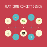Flat Icons Mosque, Mecca, Pitcher And Other Vector Elements. Set Of Religion Flat Icons Symbols Also Includes Muslim. Flat Icons Mosque, Mecca, Pitcher And Other royalty free illustration