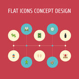 Flat Icons Muslim Woman, Decorative, Malay And Other Vector Elements. Set Of Religion Flat Icons Symbols Also Includes Stock Images