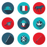 Flat icons Napoleon Stock Photography