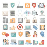 Flat Icons - network Stock Images