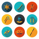 Flat icons ninja Royalty Free Stock Photography