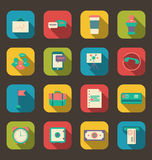 Flat Icons Of Financial Service Items Royalty Free Stock Photography