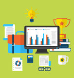 Flat Icons Of Trendy Business Objects Royalty Free Stock Photography