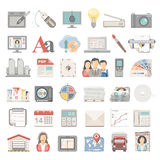 Flat Icons - Offset Printing Royalty Free Stock Photo