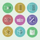Flat icons for online store Royalty Free Stock Photo