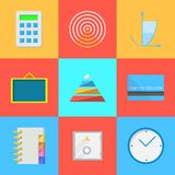 Flat icons for outsource work Royalty Free Stock Photos