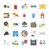 Flat icons Pack of Travel and PlacesPack of Travelling and Enjoyment Flat Vector Icons. This is flat icons pack of travel and places. Online travel information Royalty Free Stock Image