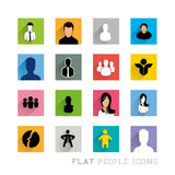 Flat Icons People Designs Royalty Free Stock Photo