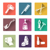 Flat icons personal care Royalty Free Stock Photography
