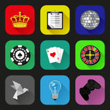 Flat icons and pictograms set Royalty Free Stock Photo