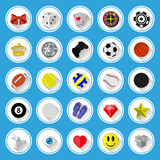 Flat icons and pictograms set Royalty Free Stock Image