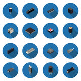 Flat icons radio parts Stock Image