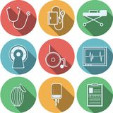Flat icons for reanimation Stock Images