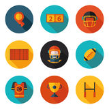 Flat icons Rugby Stock Images