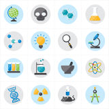 Flat Icons For Science Icons Vector Illustration Stock Photos