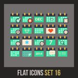 Flat icons set 16 Stock Photos