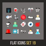Flat icons set 19 Royalty Free Stock Photo