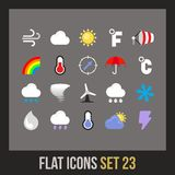 Flat icons set 23 Royalty Free Stock Photos