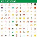100 flat icons set. For any design illustration stock illustration