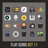 Flat icons set 11 Stock Photography