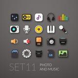 Flat icons set 11 Royalty Free Stock Photos