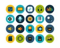 Flat icons set 11 Stock Photos