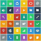 Flat icons set - basic internet & mobile icons set Stock Photos