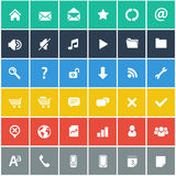 Flat icons set - basic internet & mobile icons set Royalty Free Stock Photos
