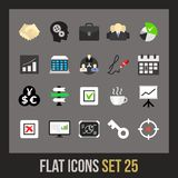 Flat icons set 25. Business and company Stock Photos