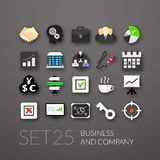 Flat icons set 25. Business and company Stock Image