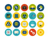 Flat icons set 25. Business and company Royalty Free Stock Photos