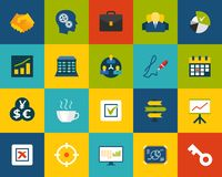 Flat icons set 25. Business and company Royalty Free Stock Photo