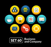 Flat icons set 60 - business and company Stock Photos