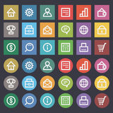 Flat icons set business finance Stock Photo