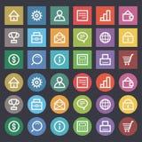Flat icons set business finance. Illustration flat icons set business finance, format EPS 8 Stock Photo