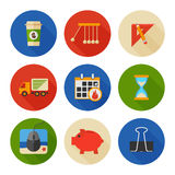 Flat Icons Set. Business Office. Vector Stock Photos