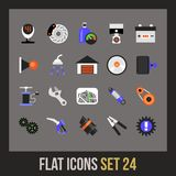 Flat icons set 24 Stock Images