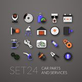 Flat icons set 24 Royalty Free Stock Photography