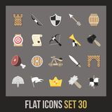 Flat icons set 30 Royalty Free Stock Photos