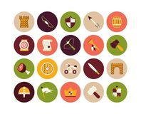 Flat icons set 30 Royalty Free Stock Images