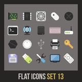 Flat icons set 13 Royalty Free Stock Photography