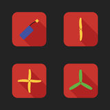Flat icons set of drones parts.  Royalty Free Stock Photo