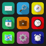 Flat icons set Stock Image