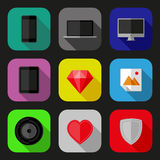 Flat icons set Stock Photo