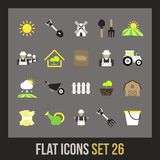 Flat icons set 26 Royalty Free Stock Photos