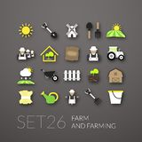 Flat icons set 26 Stock Images