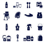 Flat icons set for feeding a baby vector illustration