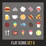 Flat icons set 6 Royalty Free Stock Images