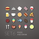 Flat icons set 6 Stock Image